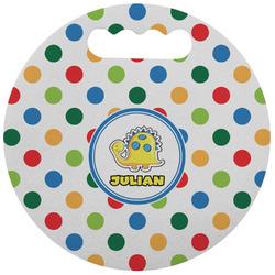 Dots & Dinosaur Stadium Cushion (Round) (Personalized)