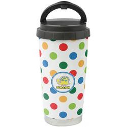 Dots & Dinosaur Stainless Steel Travel Mug (Personalized)