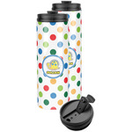 Dots & Dinosaur Stainless Steel Skinny Tumbler (Personalized)