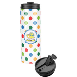 Dots & Dinosaur Stainless Steel Tumbler (Personalized)