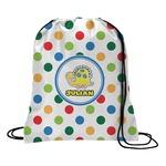 Dots & Dinosaur Drawstring Backpack (Personalized)
