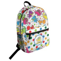 Dots & Dinosaur Student Backpack (Personalized)