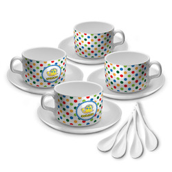 Dots & Dinosaur Tea Cup - Set of 4 (Personalized)