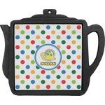 Dots & Dinosaur Teapot Trivet (Personalized)