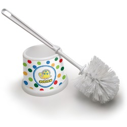 Dots & Dinosaur Toilet Brush (Personalized)