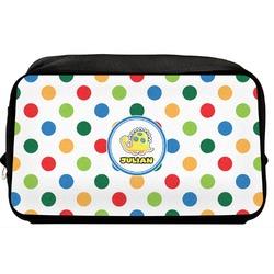 Dots & Dinosaur Toiletry Bag / Dopp Kit (Personalized)