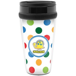 Dots & Dinosaur Travel Mug (Personalized)
