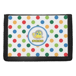 Dots & Dinosaur Trifold Wallet (Personalized)