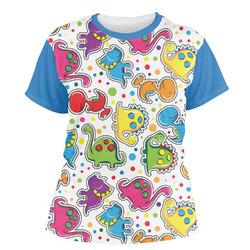 Dots & Dinosaur Women's Crew T-Shirt (Personalized)