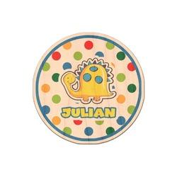Dots & Dinosaur Genuine Wood Sticker (Personalized)