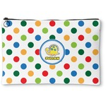 Dots & Dinosaur Zipper Pouch (Personalized)