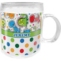Dinosaur Print & Dots Acrylic Kids Mug (Personalized)
