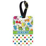 Dinosaur Print & Dots Aluminum Luggage Tag (Personalized)