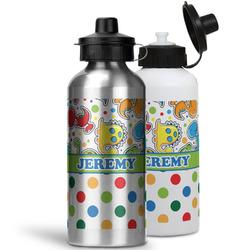Dinosaur Print & Dots Water Bottles- Aluminum (Personalized)