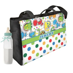 Dinosaur Print & Dots Diaper Bag (Personalized)