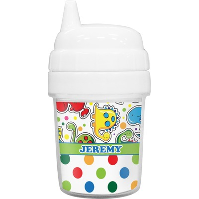 Dinosaur Print & Dots Baby Sippy Cup (Personalized)