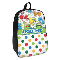 Dinosaur Print & Dots Kids Backpack (Personalized)