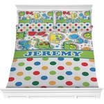 Dinosaur Print & Dots Comforter Set (Personalized)