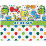 Dinosaur Print & Dots Placemat (Fabric) (Personalized)