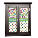 Dinosaur Print & Dots Cabinet Decal - Custom Size (Personalized)