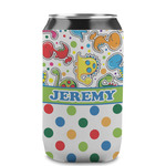 Dinosaur Print & Dots Can Sleeve (12 oz) (Personalized)