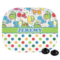 Dinosaur Print & Dots Car Side Window Sun Shade (Personalized)