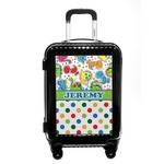 Dinosaur Print & Dots Carry On Hard Shell Suitcase (Personalized)
