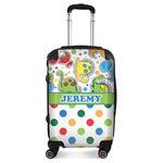 Dinosaur Print & Dots Suitcase (Personalized)