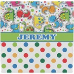 Dinosaur Print & Dots Ceramic Tile Hot Pad (Personalized)