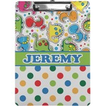 Dinosaur Print & Dots Clipboard (Personalized)