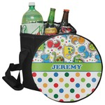 Dinosaur Print & Dots Collapsible Cooler & Seat (Personalized)