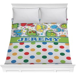 Dinosaur Print & Dots Comforter (Personalized)