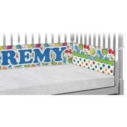Dinosaur Print & Dots Crib Bumper Pads (Personalized)