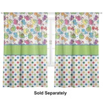 "Dinosaur Print & Dots Curtains - 40""x54"" Panels - Lined (2 Panels Per Set) (Personalized)"