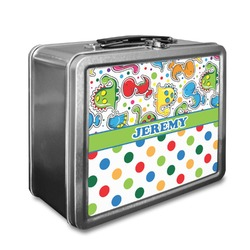 Dinosaur Print & Dots Lunch Box (Personalized)