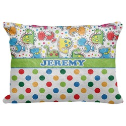 "Dinosaur Print & Dots Decorative Baby Pillowcase - 16""x12"" (Personalized)"
