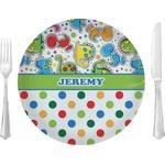 Dinosaur Print & Dots Glass Lunch / Dinner Plates 10