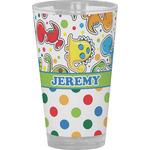Dinosaur Print & Dots Drinking / Pint Glass (Personalized)