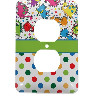 Dinosaur Print & Dots Electric Outlet Plate (Personalized)