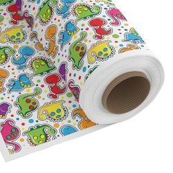 Dinosaur Print & Dots Custom Fabric - Spun Polyester Poplin (Personalized)