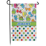 Dinosaur Print & Dots Garden Flag (Personalized)