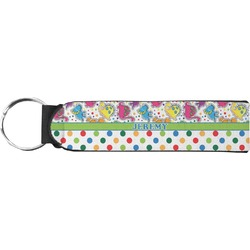 Dinosaur Print & Dots Keychain Fob (Personalized)