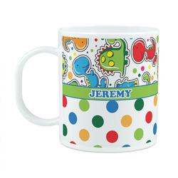 Dinosaur Print & Dots Plastic Kids Mug (Personalized)