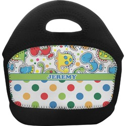 Dinosaur Print & Dots Toddler Lunch Tote (Personalized)