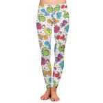 Dinosaur Print & Dots Ladies Leggings (Personalized)