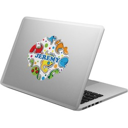 Dinosaur Print & Dots Laptop Decal (Personalized)
