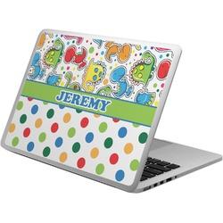 Dinosaur Print & Dots Laptop Skin - Custom Sized (Personalized)