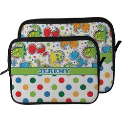 Dinosaur Print & Dots Laptop Sleeve / Case (Personalized)