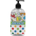 Dinosaur Print & Dots Plastic Soap / Lotion Dispenser (Personalized)
