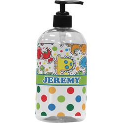 Dinosaur Print & Dots Plastic Soap / Lotion Dispenser (Personalized)